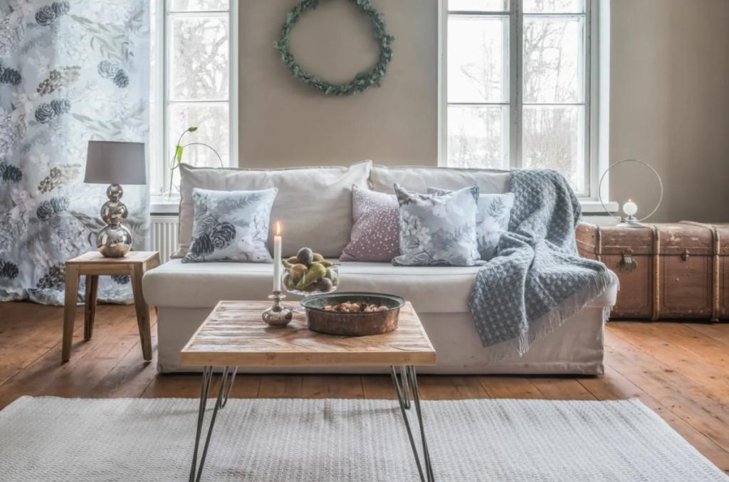 Плед на диван большого размера
